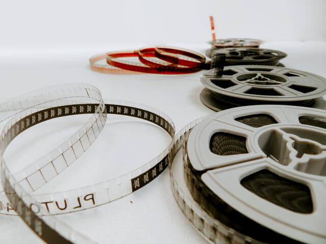 映画フィルムの写真